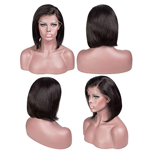 Gorgeous Short Straight 100% Human Hair Wig Best Glueless Bob Wigs - Rose Hair