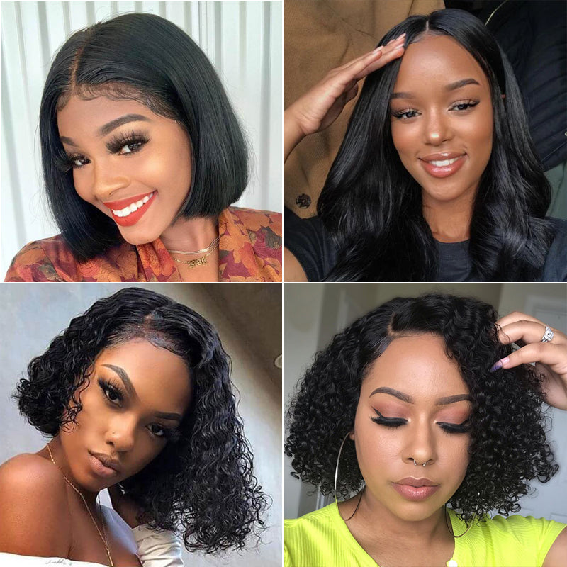 RoseHair Best Brazilian Human Hair Full Lace Bob Wig All Texture - Rose Hair