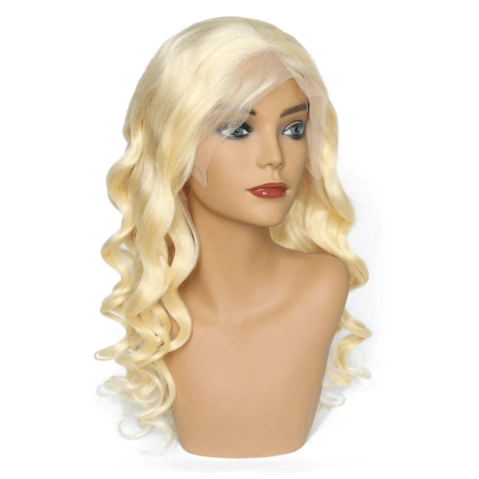 Real Transparent Lace  #613 Lace Wig 13*4 Lace Front Wig 100% Human Hair Loose Wave - Rose Hair