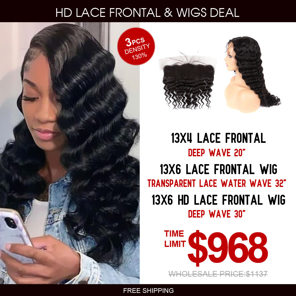 13*6 Lace Frontal Wigs 13*6 Transparent Lace & Lace Frontal Package Deal - Rose Hair
