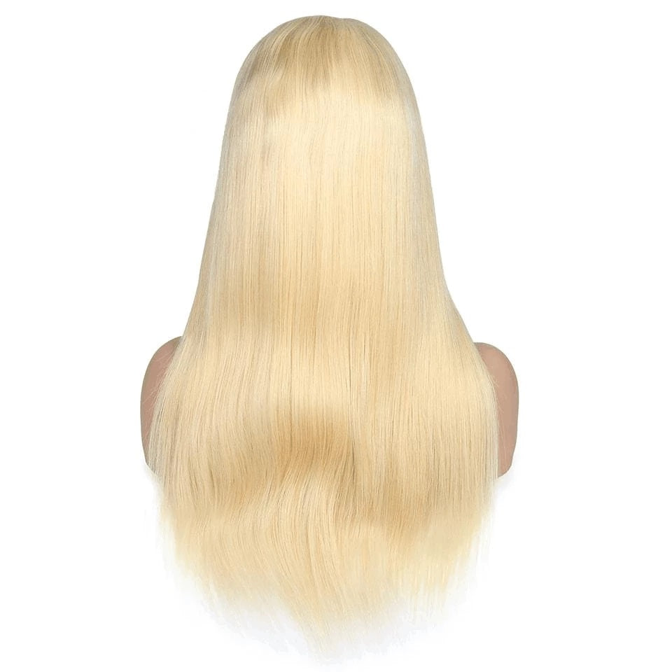 Rose Hair Blonde #613 Color Full Lace Straight Human Brazilian Virgin Hair Wig - Rose Hair