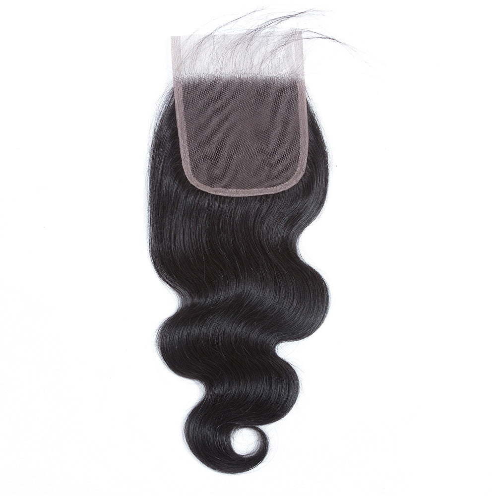 1PCS Brazilian Virgin Body Wave 4x4 Lace Closure - Rose Hair