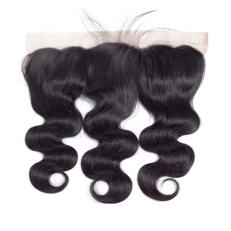 1PCS Brazilian Virgin Body Wave Pre Plucked 13x4 Lace Frontal - Rose Hair