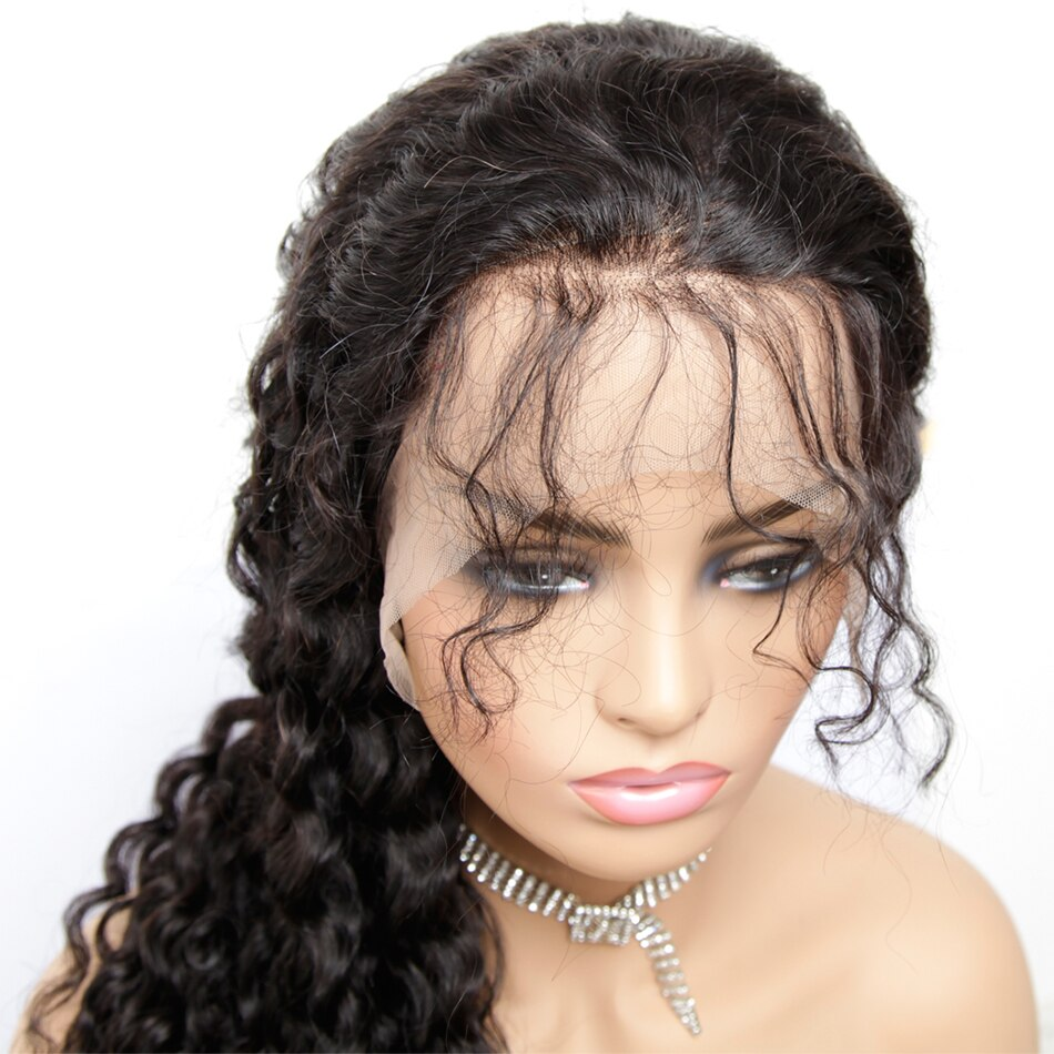 Pre Plucked Swiss 360 Lace Deep Wave Wig Best Brazilian Human Virgin RoseHair Wig - Rose Hair