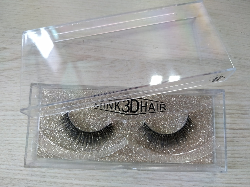 25 MM 3D Mink Hair Eyelashes With Beautiful Boxes For Black Women - Rose Hair