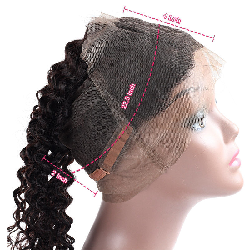 1PCS Brazilian Virgin Light Brown 360 Lace Frontal Pre Plucked All Texture - Rose Hair
