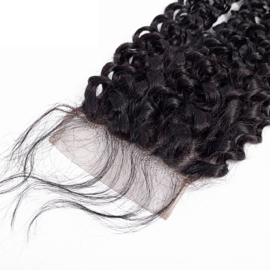 Rosehair 10A Grade Brazilian Kinky Curly 3 Bundles Virgin Hair With 4*4 Lace Closure - Rose Hair