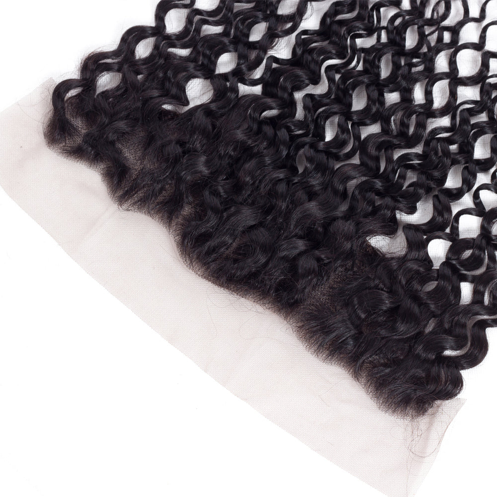 1PCS Brazilian Virgin Water Wave Pre Plucked 13x4 Lace Frontal - Rose Hair