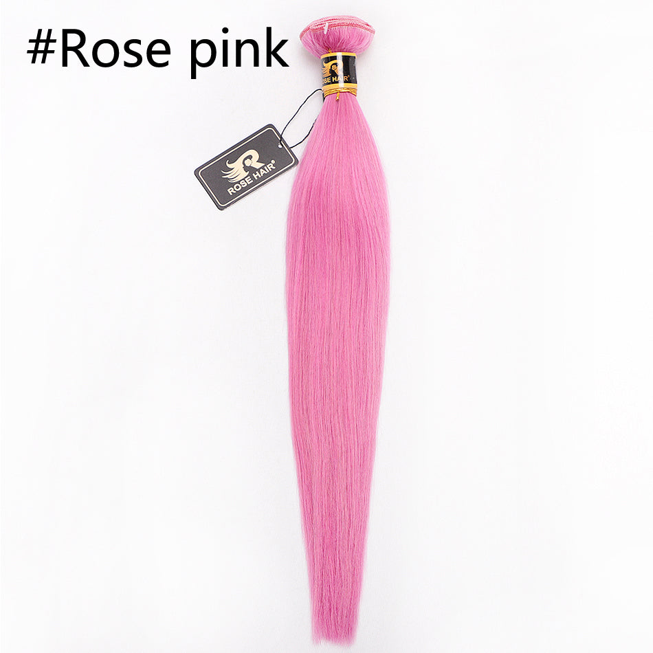 10A Grade 1PC Straight Color Best Brazilian Virgin Hair Bundles - Rose Hair