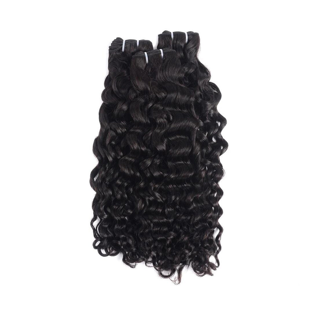 Rosehair 15A Grade Double Drawn Full End Unprocessed 3 Bundles Water Brazilian Hair Natural Black - Rose Hair