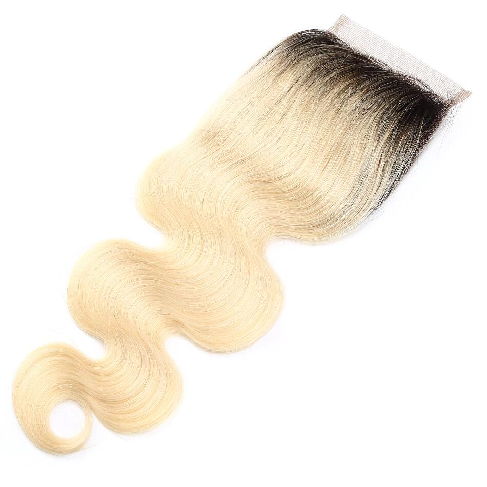 1PCS Body T1B/#613 Color Best Brazilian Virgin Hair 4x4 Lace Closure - Rose Hair