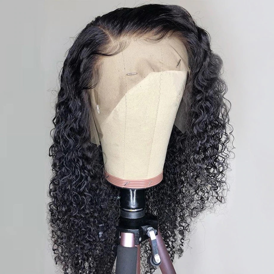 Pre Plucked Swiss 360 Lace Big Curly Wig Best Brazilian Human Virgin RoseHair Wig - Rose Hair
