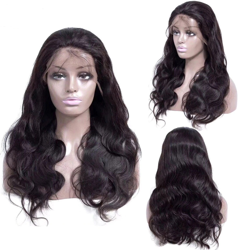 Rose Hair Body Wave Best Brazilian Virgin Human Hair Full Lace Gorgeous Soft Hair Wig - Rose Hair