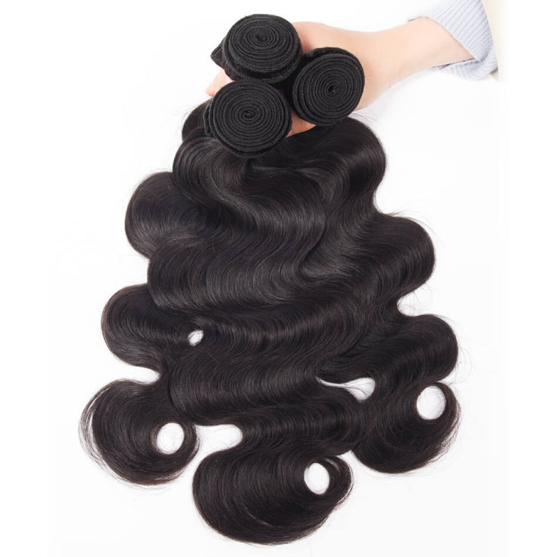 Rosehair 10A Grade Brazilian Body Wave 4 Bundles Virgin Hair With 4*4 Lace Closure - Rose Hair
