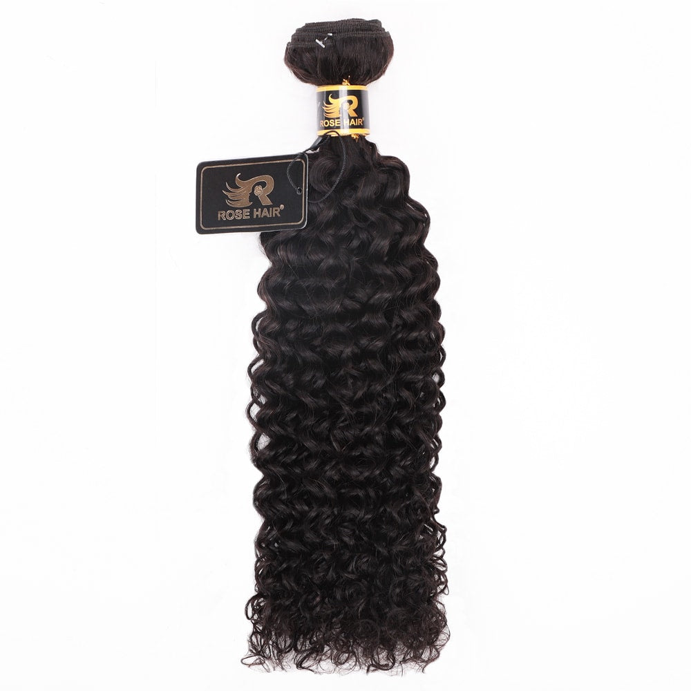 10A Grade 1PC Kinky Curly Best Brazilian Virgin Hair Bundles - Rose Hair