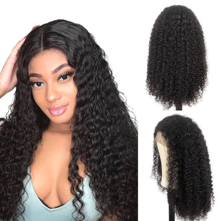 RoseHair 13x6 Lace Frontal Kinky Curly Affordable Brazilian Human Virgin Hair Wig - Rose Hair