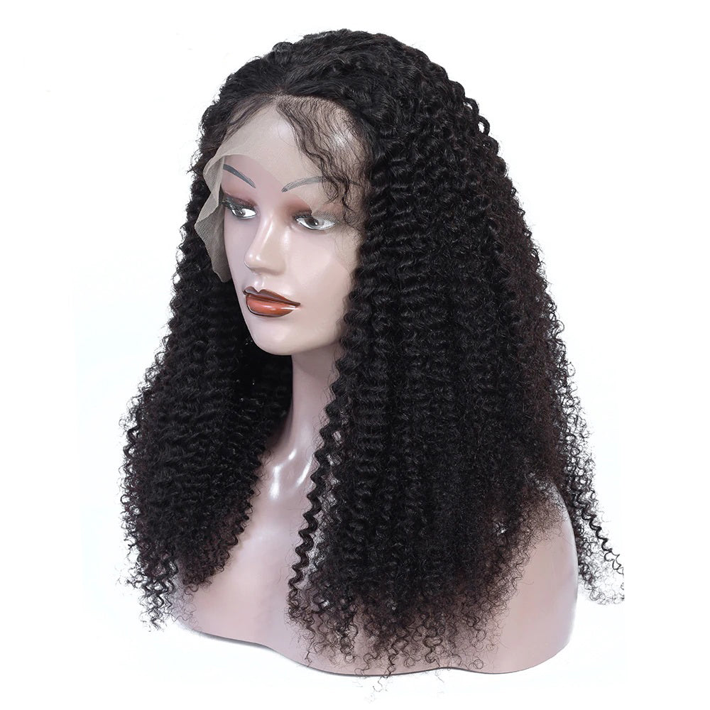Pre Plucked Swiss 360 Lace Kinky Curly Wig Best Brazilian Human Virgin RoseHair Wig - Rose Hair