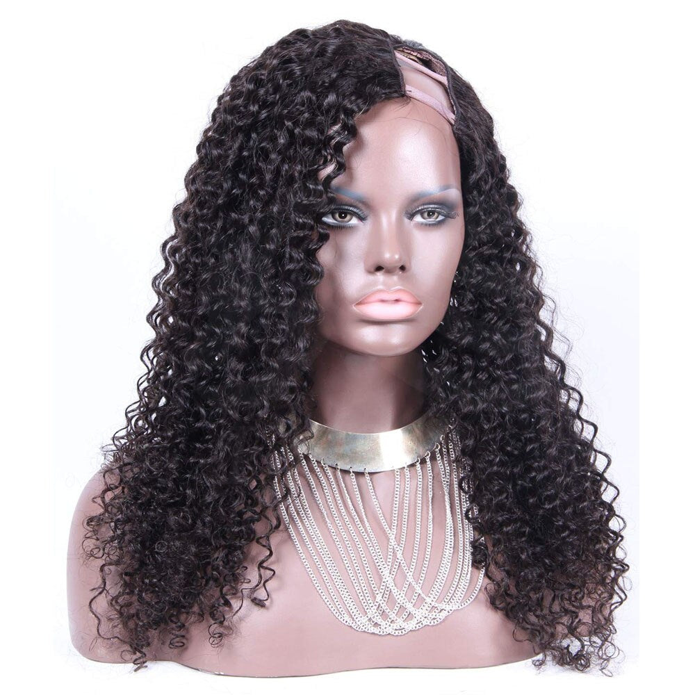 RoseHair U Part Kinky Curly Wig Super Easy Affordable Human Hair Wig - Rose Hair