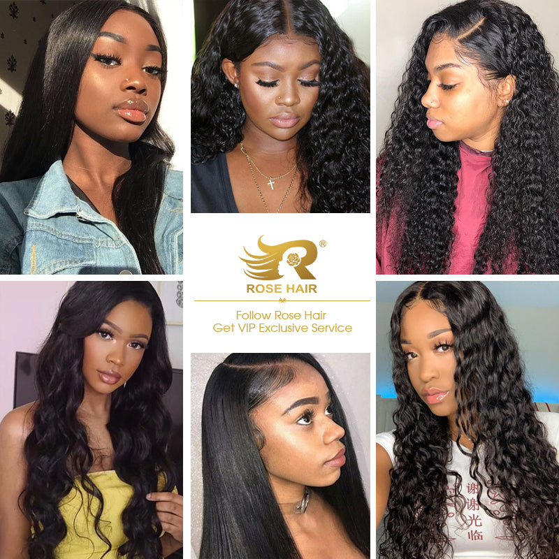 Rose Hair Best Brazilian Virgin Human Hair  13*4/ 13*6/ 360/ Full Lace Wig 150% Density Long Hair All Texture - Rose Hair