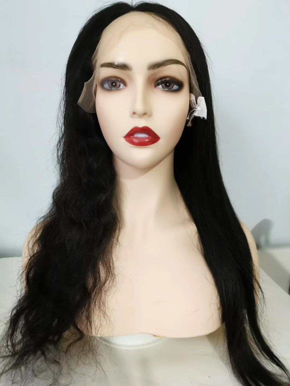 Rose Hair Human Hair13*4/13*6 Lace Frontal Wig With Baby Hair Wet And Wavy Pre Plucked Wig - Rose Hair