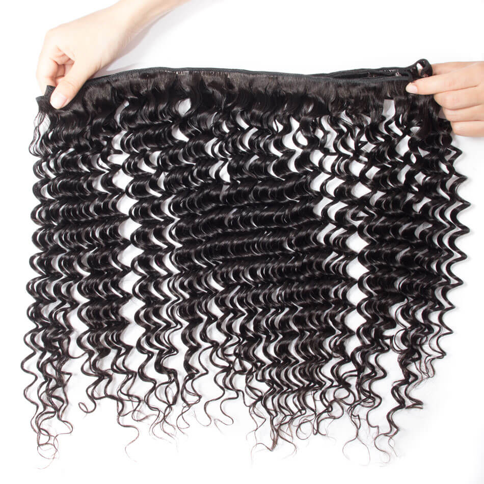 10A Grade 3PCS Deep Wave Best Brazilian Virgin Hair Bundles - Rose Hair