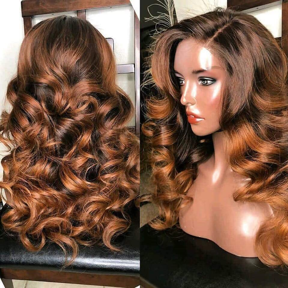 Rose Hair Human Virgin Hair Lace Frontal Wig/Full Lace Wig150% Density The Same As The Hairstyle In The Picture - Rose Hair