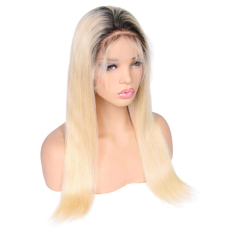 Rose Hair 13*4 Lace Front Wig Human Hair #613/T1b Lace Wigs Straight Hair - Rose Hair