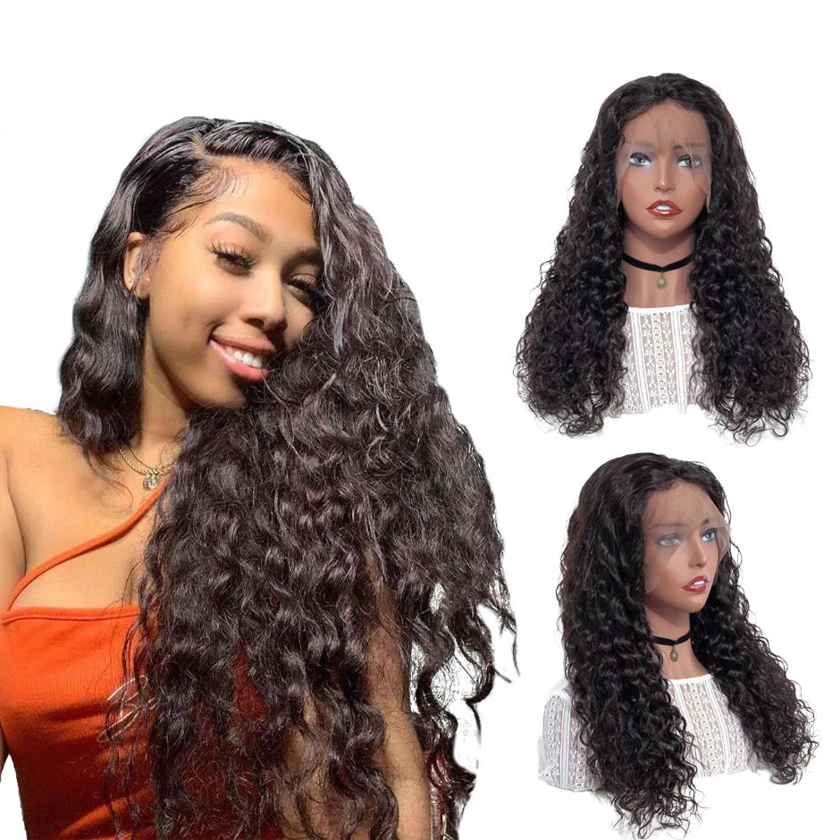 Pre Plucked Swiss 360 Lace Water Wave Wig Best Brazilian Human Virgin RoseHair Wig - Rose Hair