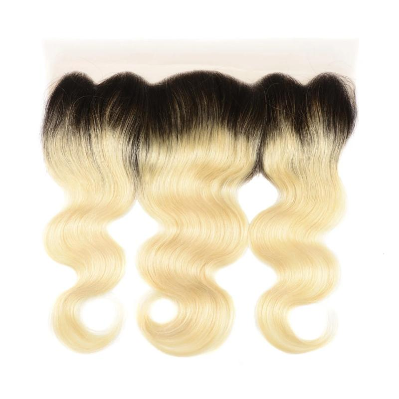 1PCS Body T1B/#613 Color Best Brazilian Virgin Hair 13x4 Lace Frontal - Rose Hair