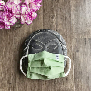 Three layers - Filter pocket - Solid Color Face Mask with Removable Nose Bridge - KIDS and ADULT Sizes