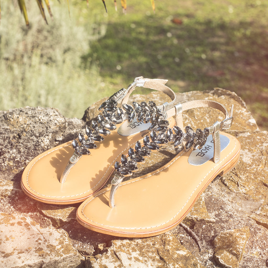 Chaand-Crystal Sandals