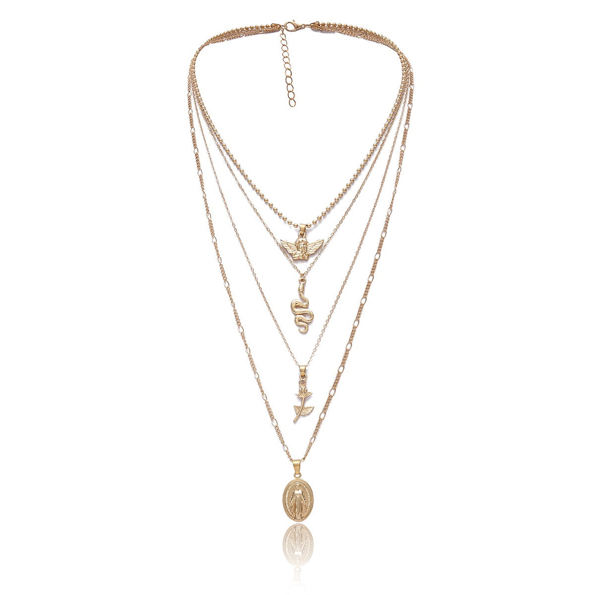 19bc6a129a89b7 Load image into Gallery viewer, Flower Layered Necklace - Glam's Eve ...