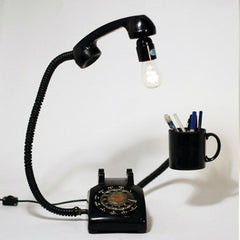 ROTARY PHONE ORGANIZER LAMP (SOLD)