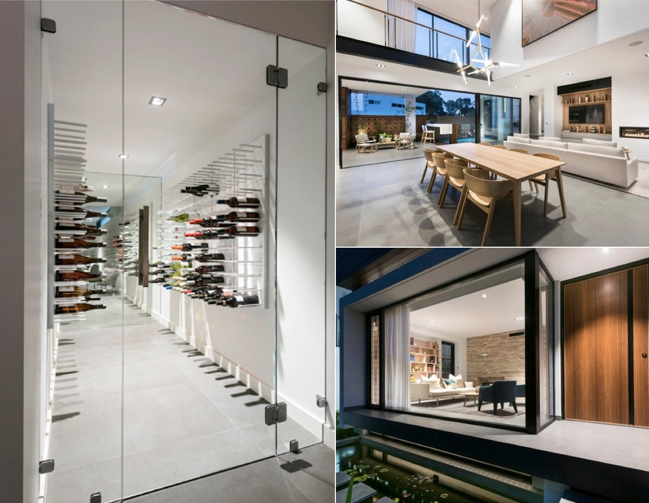 Vinkælder - vincent show home, by Austurban - Perth, Australia  - 50 paneler i Hvid -  Photo Credit: D-Max Photography