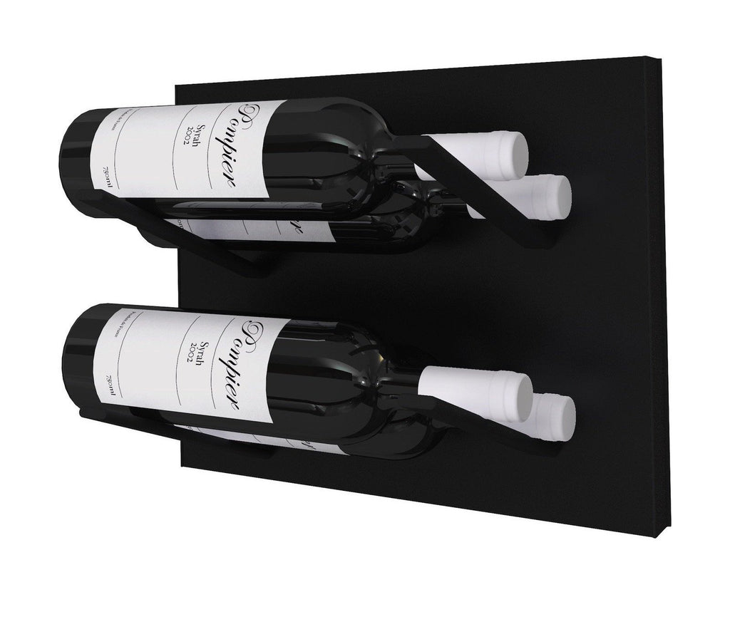 label-out wine rack - blackout