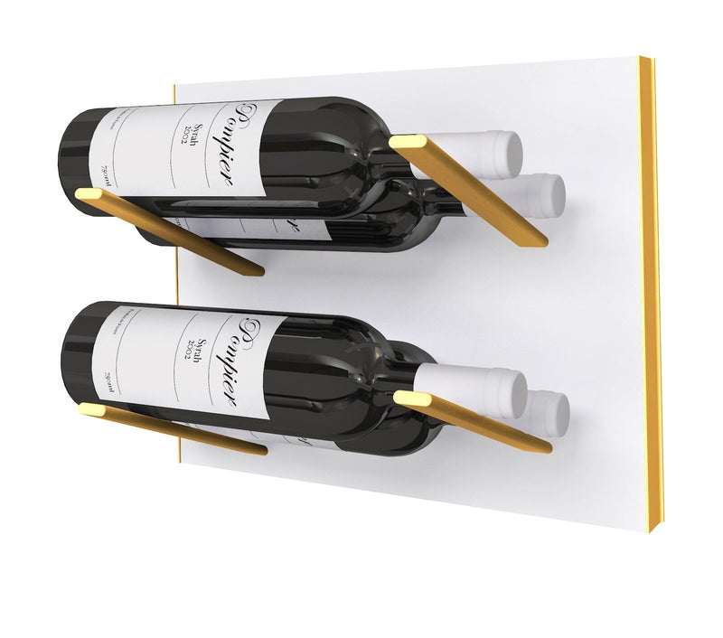 STACT Premier L-type Wine Rack - Hvid & Guld
