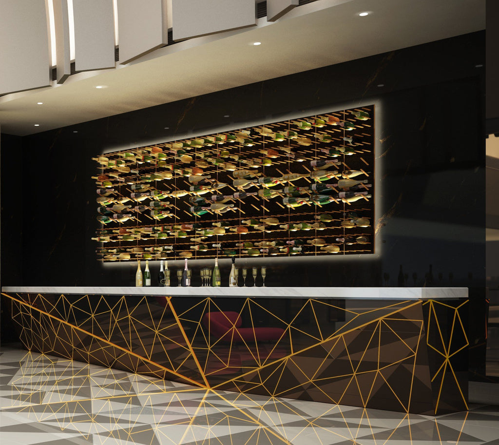 luxury wine display wall