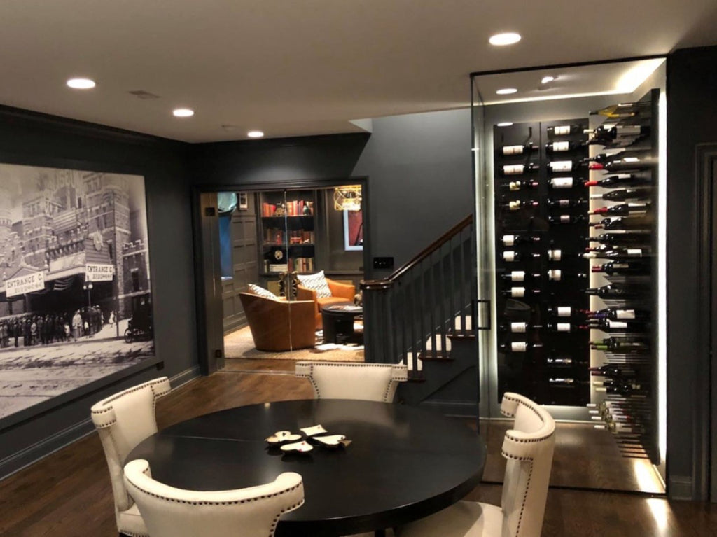 black wine cellar