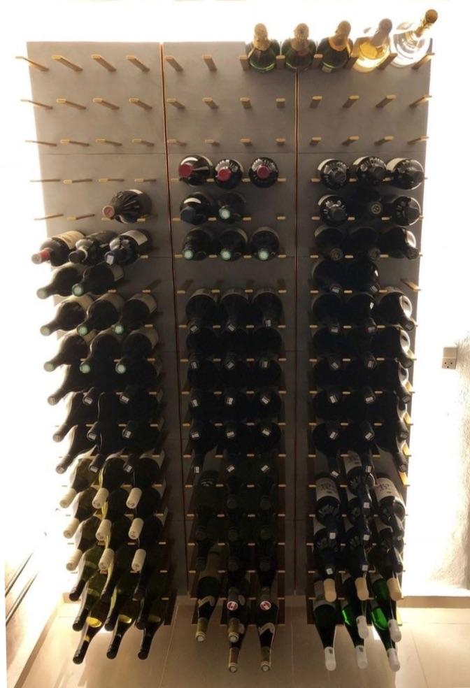 gold peg wine racks - luxury wine cellar racking