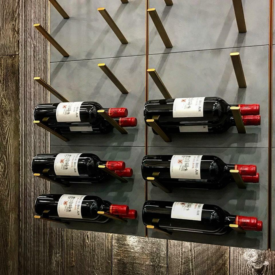 gold wine peg display