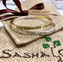 Mantra Bracelet - She Thought That She Could So She Did