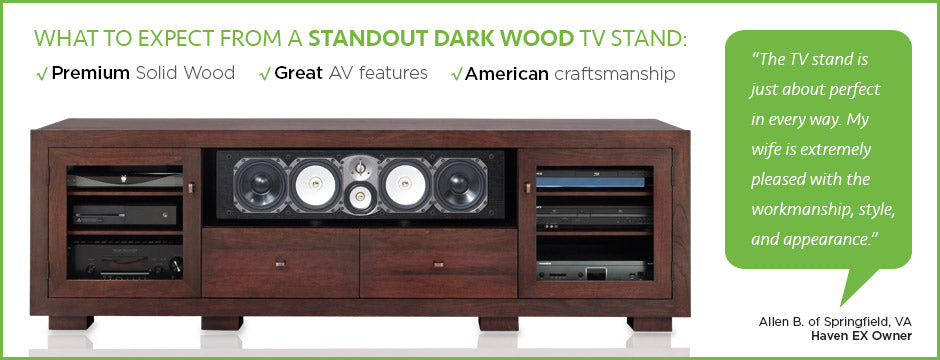 Dark Wood TV Stands by Standout Designs