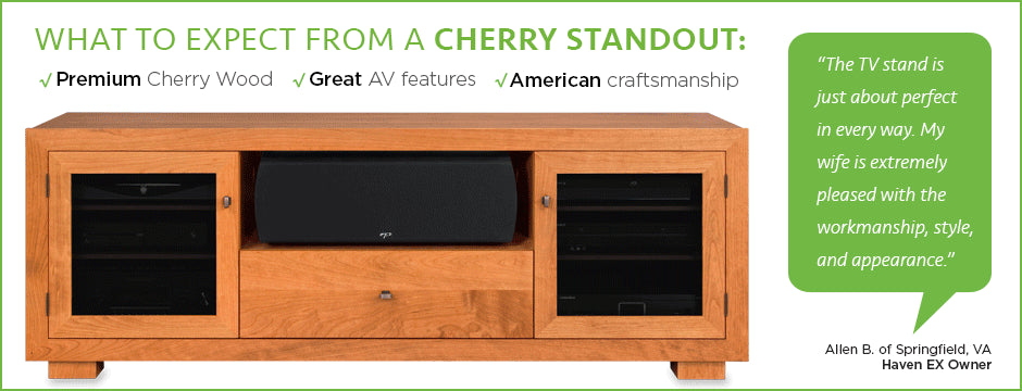 cherry wood tv stands by standout designs