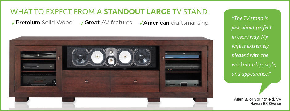 Large TV Stands by Standout Designs