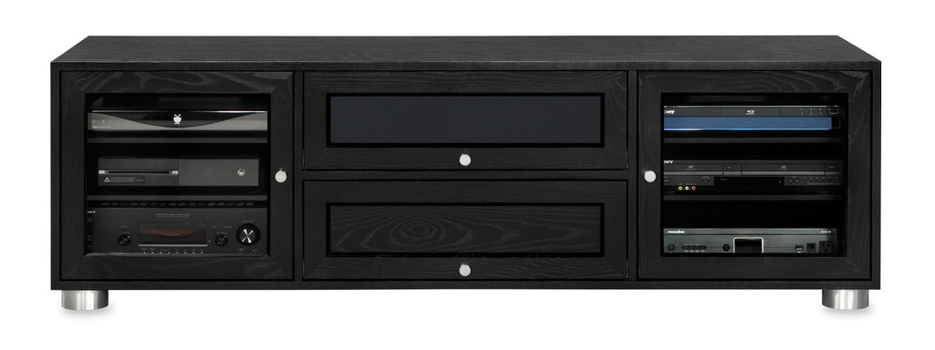 Solid Ash Media Console Made in USA.