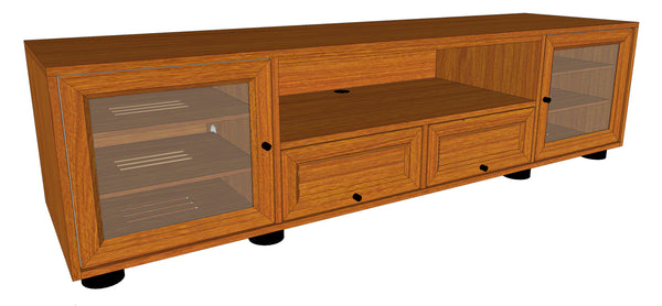 "New Majestic EX 82"" Wide Solid Wood Media Console"