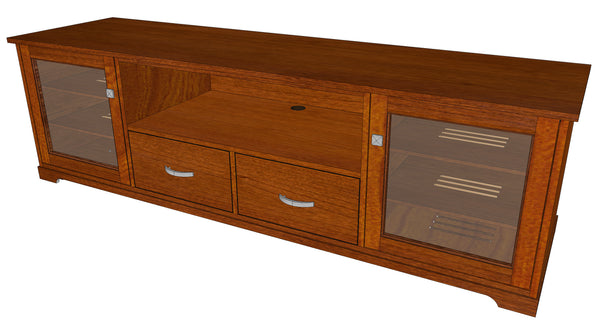 "Standout Designs Horizon EX 81"" Solid Wood Media Console"