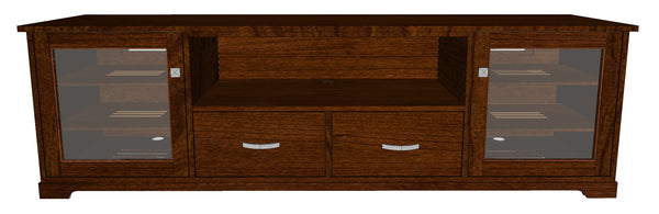 "Standout Designs Horizon EX 81"" Solid Wood Media Console - Front Rendering"