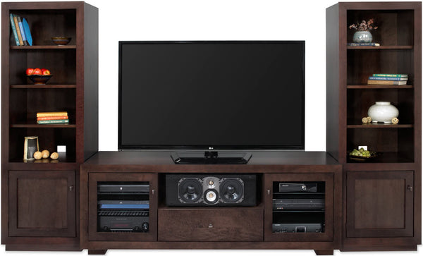 TV Console with Towers - Solid Wood - Made in USA