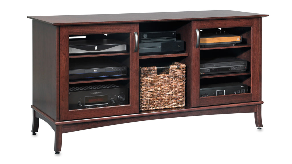 60-inch Norwalk Solid Wood Media Console, Made in USA.
